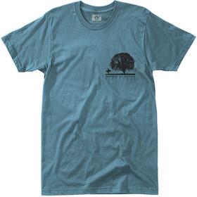Hippy Tree Oak Kortærmet T-shirt Herrer blå